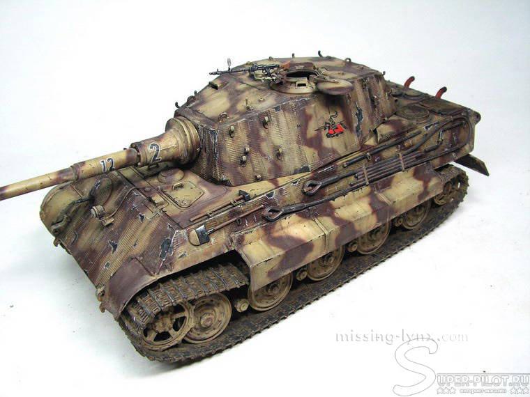 танк kingtiger porsche turret, 1/35